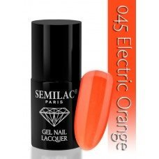 7 ml Gellack - Semilac - 045 Electric Orange
