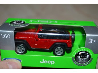 Jeep Rubicon Röd Öppen 1:60 Welly Series NEX Ny