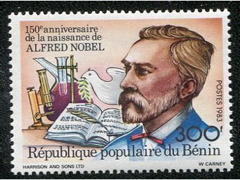 Republique Du Benin 1983 A.Nobel postfriskt