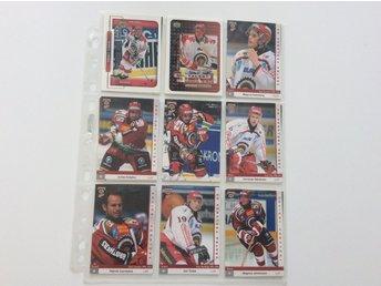18 st hockeykort. Frölunda Indians - Karlstad - 18 st hockeykort. Frölunda Indians - Karlstad