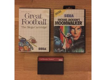 Moonwalker - California Games - Great football - samling Sega Master System
