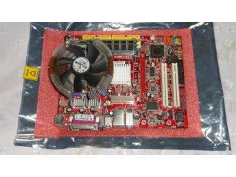 Javascript är inaktiverat. - Väddö - *Moderkort PM8M2-V https://www.msi.com/Motherboard/PM8M2V.html#hero-o.... *Processor Intel P4 2,66 GHz *Kylare *Fläkt Zalman *RAM 1,5 GB DDR 400 Ingen 1/0 plåt men går bra ändå Testat och fungerar bra. Fint skick. Frakt till andra länder