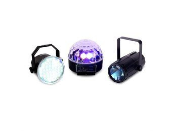 Beamz Light Package 1 LED-ljuseffekts-set 3-ig