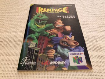 Rampage World Tour - N64 manual
