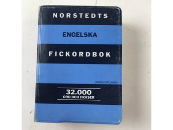 Bok, Norstedts english-swedish and swedish-english dictionary, M. Sjodin