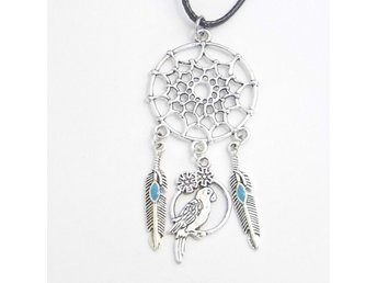 Fågel drömfångare halsband / Bird dreamcatcher necklace