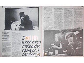 WILLY DE VILLE (MINK DE VILLE) 2-Sidor TIDNINGSARTIKEL 1981 - öckerö - WILLY DE VILLE (MINK DE VILLE) 2-Sidor TIDNINGSARTIKEL 1981 - öckerö