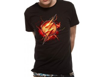 JUSTICE LEAGUE MOVIE - FLASH SYMBOL (UNISEX) - Medium