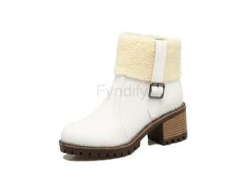 Dam Boots Short Plush Keep Warm Women Boots White 34