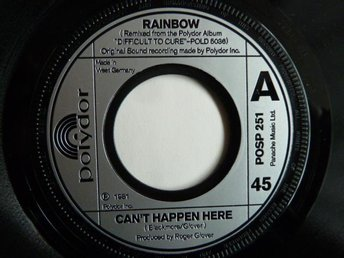 RAINBOW,  CAN'T HAPPEN HERE,  MINI LP,  LP-SKIVA