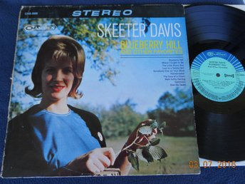 SKEETER DAVIS - Blueberry Hill and other favorites, LP RCA Camden Orig Tyskland