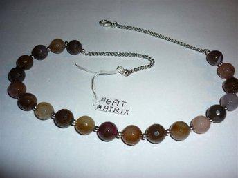 unik sten AGAT MATRIX i ett halsband - Flen - unik sten AGAT MATRIX i ett halsband - Flen