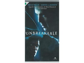 UNBREAKABLE - BRUCE WILLIS   (SVENSKT-VHS FILM !!)