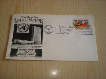 Förenta Nationerna United Nations 1961 USA förstadagsbrev