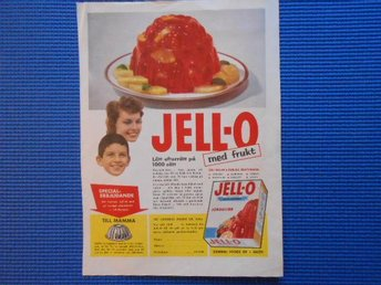 Annons Jell-O General Foods AB Eslöv