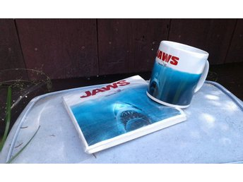 Mugg & servetter JAWS Hajen KULTFILM ! Movie filmmemorabilia KULT