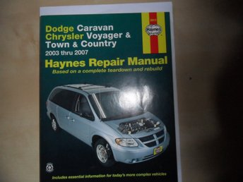 Haynes Reprations Manual Dodge Caravan  Chrysler Voyager & Town & Country 03-07