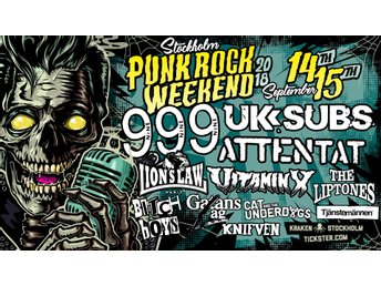 Stockholm Punk Rock Weekend 14-15 September 2018