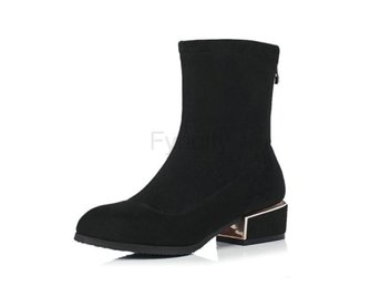 Dam Boots Toe Spring and Autumn Ladies Boots Black 42