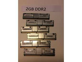 Server minne 2GB DDR2 6st total 12 GB