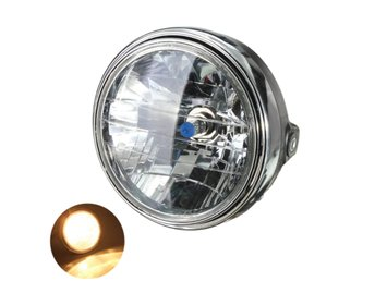 7inch 12V 35W H4 Motorcycle Headlight Bulb Rear Mount Hea...