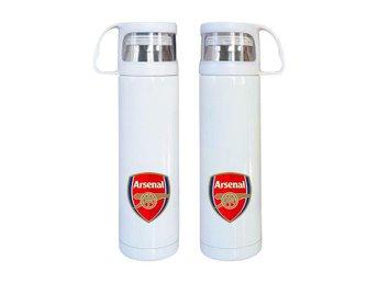 Arsenal rostfritt stål termos, Arsenal kaffetermos med mugg - Karlskrona - Arsenal rostfritt stål termos, Arsenal kaffetermos med mugg - Karlskrona