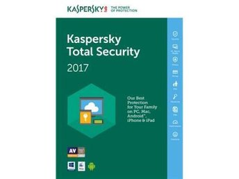 Kaspersky Total Security Multi Device 2017, 3anv 1år Attach