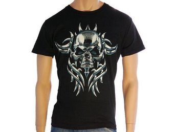 T-Shirt HR Tribal Skull Storlek: L