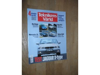Teknikens Värld nr 17, 2001, Jaguar X-type