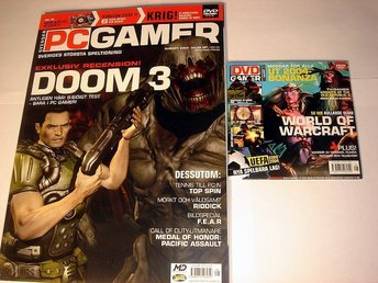 PC GAMER  Nr92 HELT NY m DVD  AUG 2004  DOOM 3  mm.