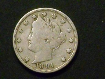 USA 5 CENTS 1891