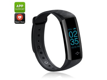 Fitness Tracker Bracelet - Bluetooth 4.0, IP67, Pedometer, Distance Counter, Hea