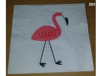 Servett flamingo nr 203