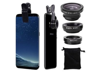 Javascript är inaktiverat. - Shangrao - VODOOL Clip 3-in-1 180° Fish-Eye Lens+0.67X Wide Angle Lens+10X Micro Lens General Mobile Phone Lens Silver Suitable for iphone7 plus/6S plus/5. for Samsung S5 S6 S7 edge etc. Description: 1. 3-in-1 Mobile Phone Lens: 0.67X Wide Angle Lens 10X - Shangrao