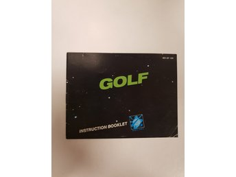 Golf - Manual NES NINTENDO - USA