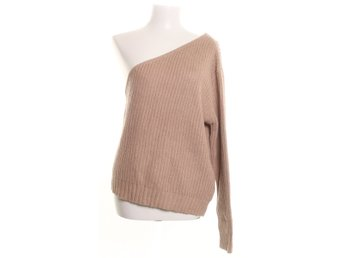 NA-KD, Tröja, Strl: M, One Shoulder Knitted Sweater, Beige