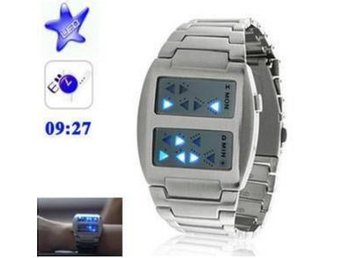 NY!Templar Blue LED Binär Digital LED Klocka Armbandsur