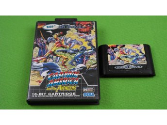 Captain America And the Avengers SVENSK UTGÅVA Sega Megadrive