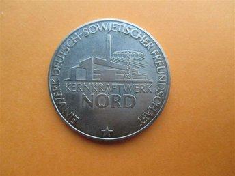 DDR 30 Jahre Münze Inbetriebnahme KKW Nord 2 Block 4 - Geraardsbergen - DDR 30 Jahre Münze Inbetriebnahme KKW Nord 2 Block 4 - Geraardsbergen