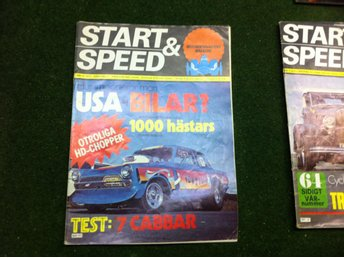 Start & Speed 1975 Nr 11 Kul Bil o Motor Tidning-Magazine