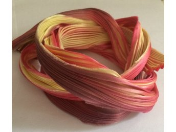 Shibori Silke 20cm, rosa gula toner - Bålsta - Shibori Silke 20cm, rosa gula toner - Bålsta
