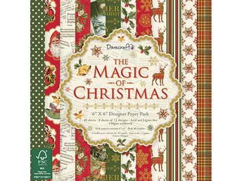NYHET! Scrapbooking papper - 15 x 15 - The Magic of Christmas - 12 ark