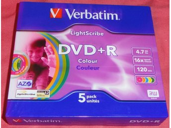DVD+R Lightscribe 1.2  Couleur 5Pack
