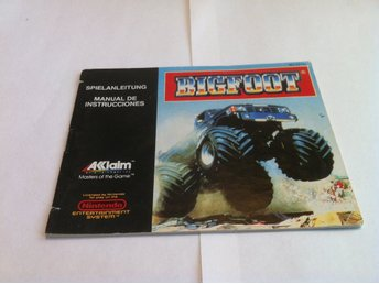 NES: Manualer: Bigfoot (End. manual -Tysk)