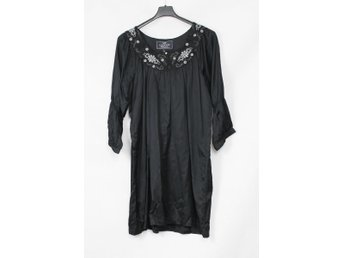 LEXINGTON KLÄNNING DRESS SVART BLACK LOOSE LÖS STORLEK L NY