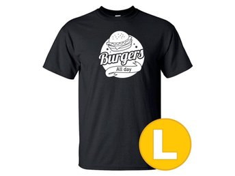 T-shirt Burgers All Day Svart herr tshirt L