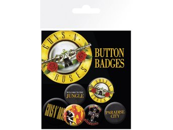 Pin Badge Pack - Musik - Guns N Roses - Lyrics and Logos