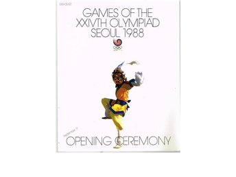 GAMES OF THE XXIVTH OLYMPIAD SEOUL 1988 Opening Ceremony