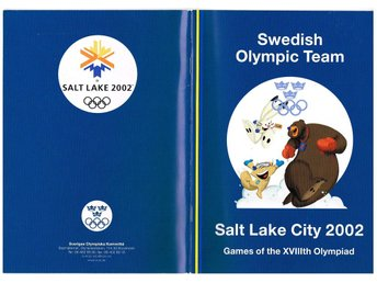 SWEDISH OLYMPIC TEAM SALT LAKE CITY 2002 Games of the XVIIIth Olympiad - Media G