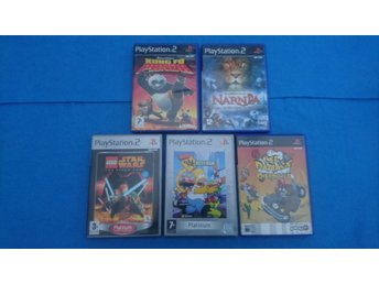 PS2 Cel Damage Overdrive, The Simpson Hit & Run, Lego Star Wars, Kung Fu Panda